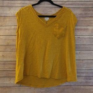 Goldenrod postmark short sleeve blouse